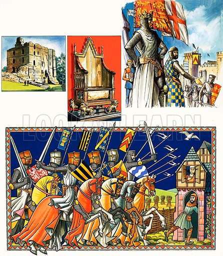The Story of Scotland: At the Hammer's Mercy. The tragic aftermath of the death of Alexander III. Original artwork from Look and Learn no. 366 (18 January 1969).