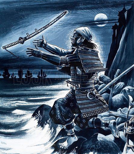 Japanese samurai warrior.