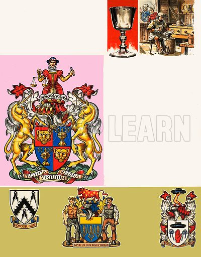 The Guilds of London: The Worshipful Company of Goldsmiths. Original artwork from Look and Learn no. 295 (9 September 1967).