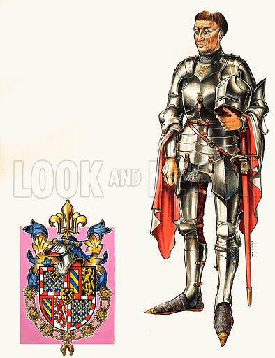 The Valois Dukes of Burgundy: Philip 'The Good'. Original artwork from Look and Learn no. 338 (6 July 1968).