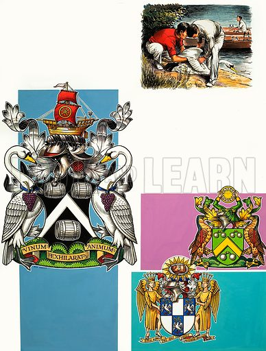 The Guilds of London: The Worshipful Company of Vinters. Original artwork from Look and Learn no. 311 (30 December 1967).