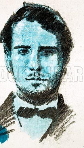 Unidentified portrait. Original artwork (dated 20/12/69).