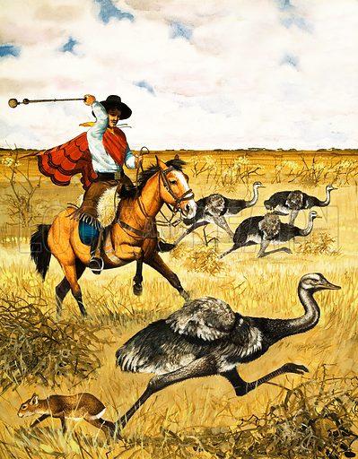 Emu Hunting. Original artwork.