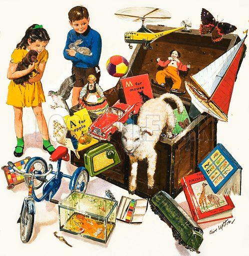 The Treasure trove. Original cover artwork from Treasure no. 1.