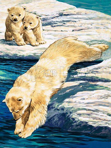 Nature Wonderland: Playful Polars. Original artwork from Treasure no. 387 (13 June 1970).