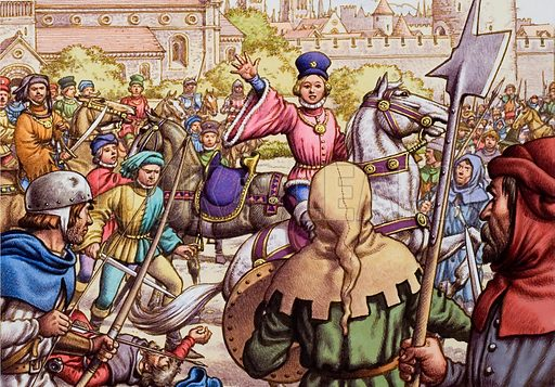 Richard II and the Peasants' Revolt. Unrest among the working population led to the Peasants' Revolt in 1381. Led by Wat Tyler, the peasants marched on London, burning buildings and killing people. Richard II met them, and Wat Tyler was stabbed by the Lord Mayor or in the dispute that followed. After Tyler's death below, Richard quieted Tyler's followers with the promise which he did not keep, that their grievances would be removed.