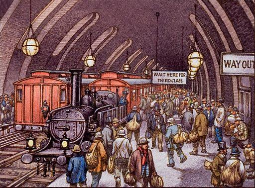 Metropolitan Railway opens,  picture, image, illustration