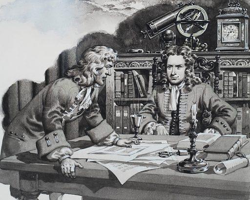 picture, Edmond Halley, Sir Isaac Newton