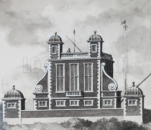 Greenwich Observatory, designed by Sir Christopher Wren.