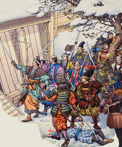 The Forty-Seven Ronin, a legendary band of Japanese samurai warriors who plotted for a whole year before taking steps to avenge their dead lord.