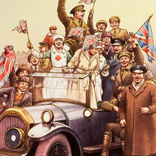 picture, celebration, World War I, Great War, First World War