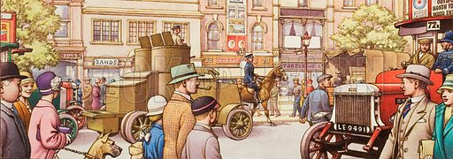 The national strike in 1926 when volunteers drove the buses and goods depots were set up in Hyde Park with lorries bringing supplies led by an armoured car as a precaution.