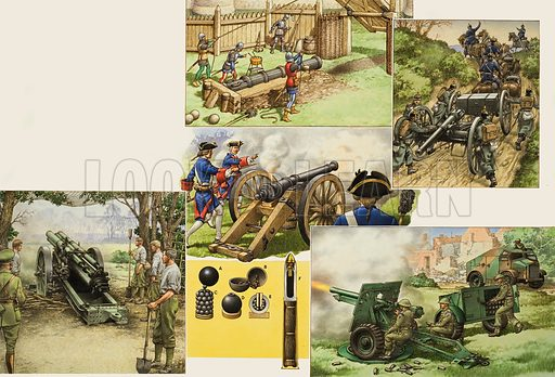 Unidentified military scene.  Original artwork for illustration in Look and Learn (issue yet to be identified).  Lent to Look and Learn for scanning by The Gallery of Illustration.