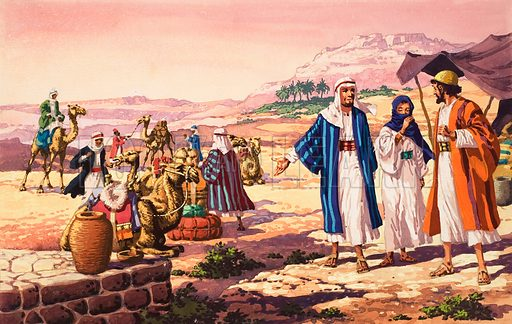 The Story of Isaac. Original artwork for illustration on p6 of The Bible Story issue no 18 (4 July 1964).
