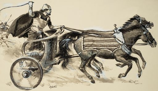 Charioteer. Original artwork from Treasure (issue yet to be identified).