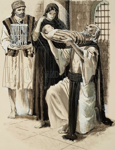 Biblical Scene. Original artwork for Treasure (issue yet to be identified).