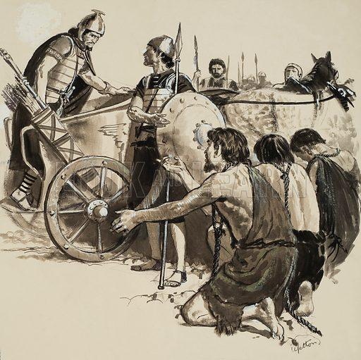 Biblical Scene. Original artwork from Treasure (issue yet to be identified).
