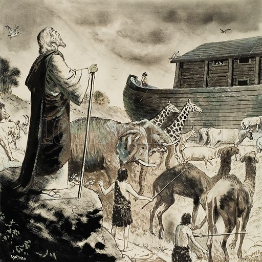 Biblical Scene.  Original artwork from Treasure (issue yet to be identified). Lent for scanning by The Gallery of Illustration.