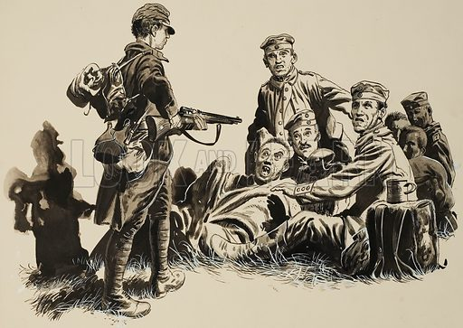 Soldiers. Original artwork for Look and Learn (issue or annual yet to be identified).