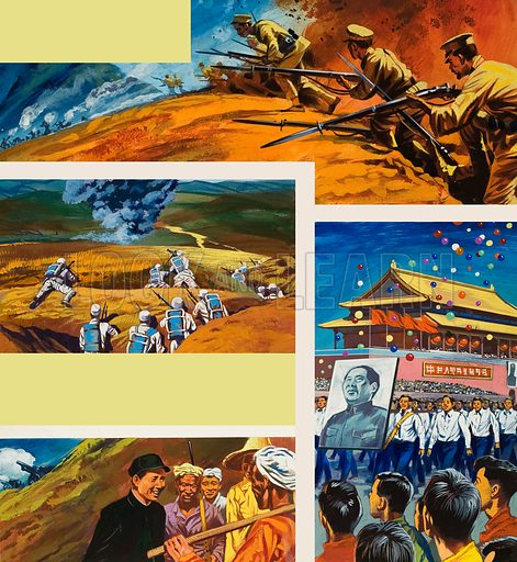 China. Original artwork for World of Wonder annual.