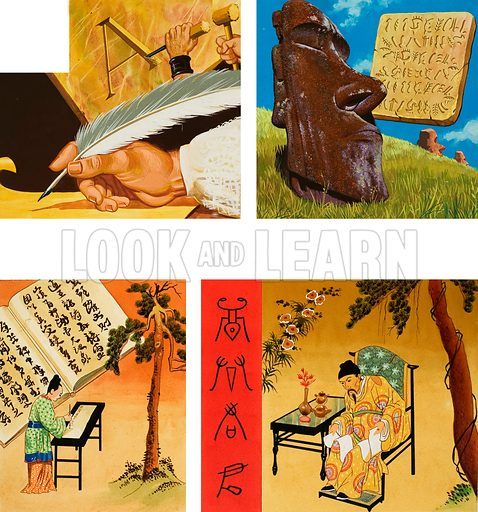Writing. Original artwork for World of Wonder annual.