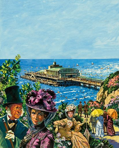 Bournemouth, the little town that gew from a small fishing village to a popular seaside town in less than 50 years.