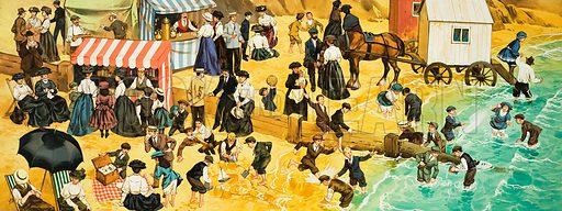 Victorian or Edwardian Beach Scene