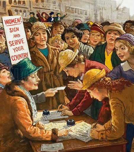 During a march held in London in July 1915, 11,000 women signed a petition as volunteers for war work.