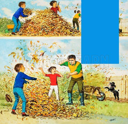 Autumn Leaves. Original artwork for Treasure issue of 7 October 1967.