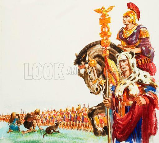 Roman army in Britain.
