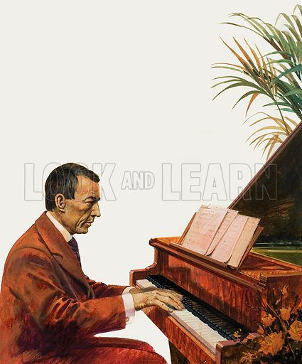 Rachmaninoff, picture, image, illustration