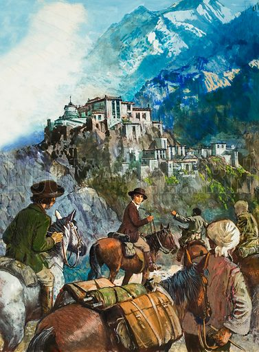 Lewis and Allan, two American doctors, were determined to see the famous devil-dancing ceremony in the Hamis lamasery, high in the Himalayas,.