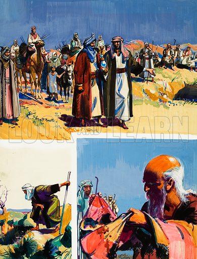 The Story of Joseph.  Original artwork for illustration on p7 of The Bible Story issue no 28.  Lent for scanning by The Gallery of Illustration.