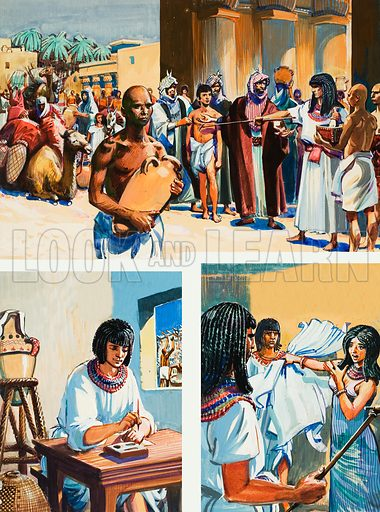 The Story of Joseph. Original artwork for illustration on p6 of The Bible Story issue no 9.