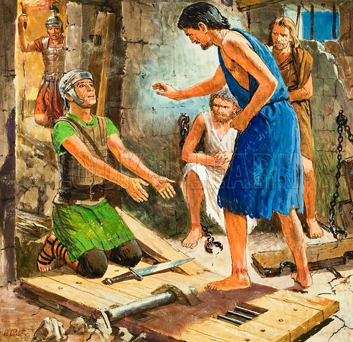 St Paul in prison, picture, image, illustration