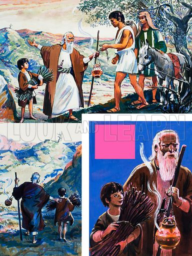 The Story of Abraham. Original artwork for illustration on p7 of The Bible Story issue no 14.