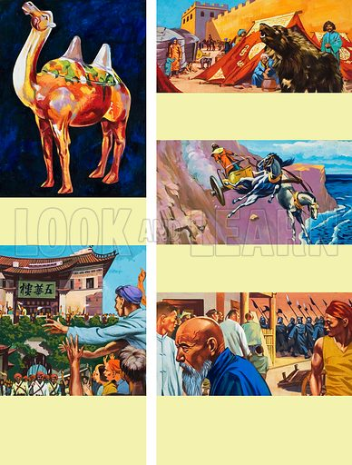 Story of China.  Original artwork for illustration on p83 of the World of Wonder Book 1981.  Lent for scanning by The Gallery of Illustration.