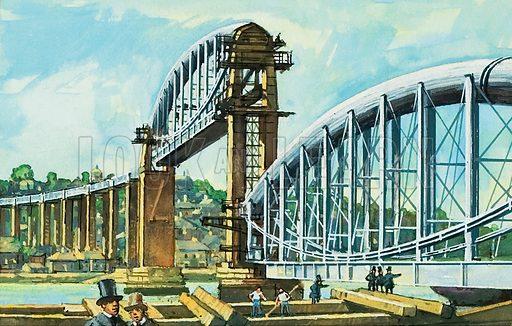 Royal Albert Bridge, picture, image, illustration