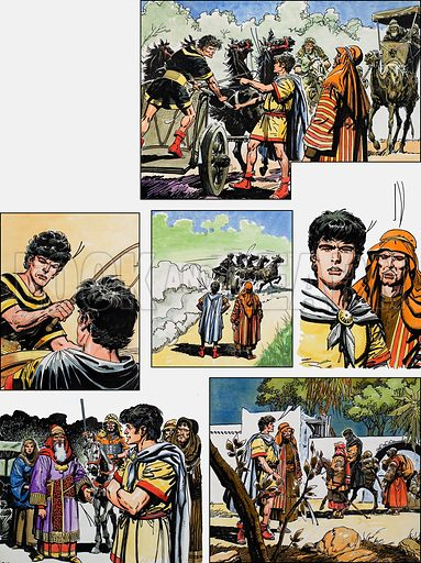 Ben-Hur: Original artwork for a strip based on the book by General Lewis Wallace, L&L no.379 (19 April 1969).