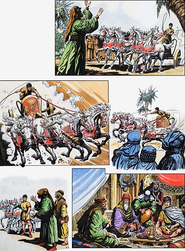 Ben-Hur: Original artwork for a strip based on the book by General Lewis Wallace, L&L no.380 (26 April 1969).