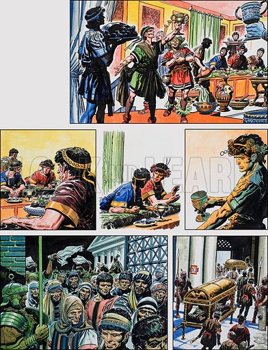 Ben-Hur: Original artwork for a strip based on the book by General Lewis Wallace: L&L no.381 (3 May 1969).