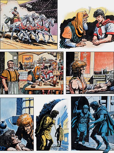 Ben-Hur: Original artwork for a strip based on the book by General Lewis Wallace: L&L no.382 (10 May 1969).