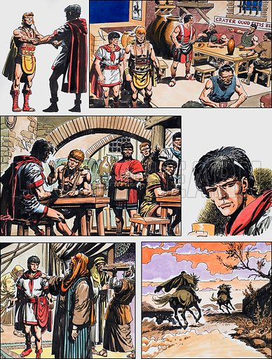 Ben-Hur: Original artwork for a strip based on the book by General Lewis Wallace: L&L no.384 (24 May 1969).