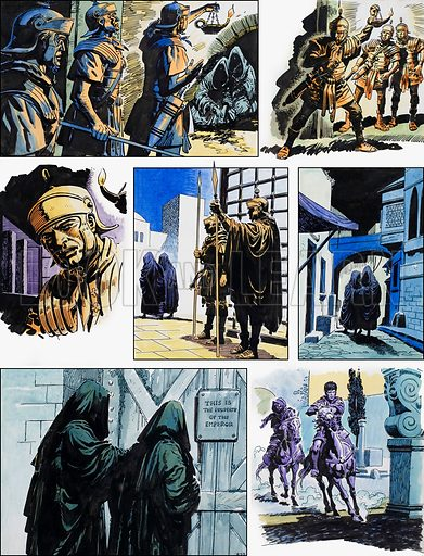 Ben-Hur: Original artwork for a strip based on the book by General Lewis Wallace: L&L no.385 (31 May 1969).