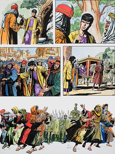 Ben-Hur: Original artwork for a strip based on the book by General Lewis Wallace: L&L no.391 (12 July 1969).