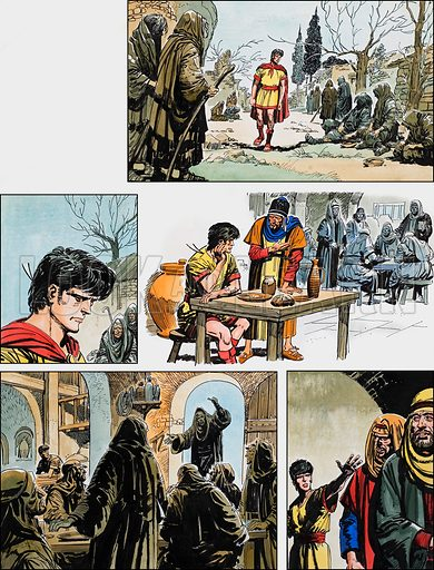 Ben-Hur: Original artwork for a strip based on the book by General Lewis Wallace: L&L no.387 (14 June 1969).