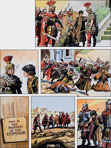 Ben-Hur: Original artwork for a strip based on the book by General Lewis Wallace: L&L no.375 (22 March 1969).