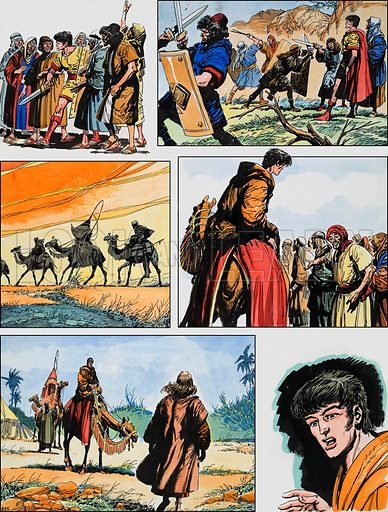 Ben-Hur: Original artwork for a strip based on the book by General Lewis Wallace: L&L no.388 (21 June 1969).