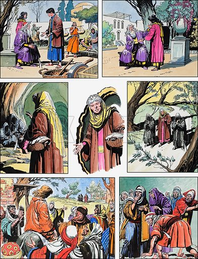 Ben-Hur: Original artwork for a strip based on the book by General Lewis Wallace: L&L no.389 (28 June 1969).