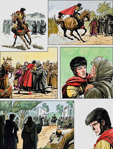 Ben-Hur: Original artwork for a strip based on the book by General Lewis Wallace: L&L no.390 (5 July 1969).